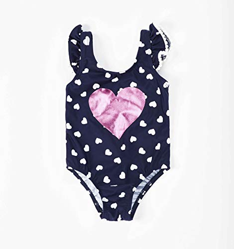 Girls Cute Love Sweetie Heart Swimwear One-Piece Bathing 2Yrs Children
