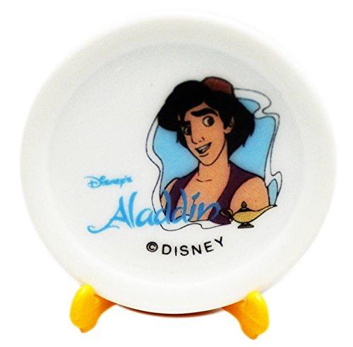 Disney Collectible Plates (Disney's Aladdin Decorative Miniature Plate Set w/Stand (1 Stand, 2 Plates))