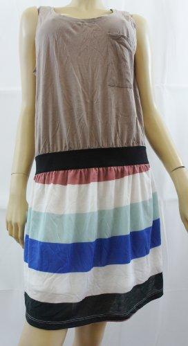 Vero ModaDamen Kleid, Gestreift Mehrfarbig Beige Green Blue White Pink