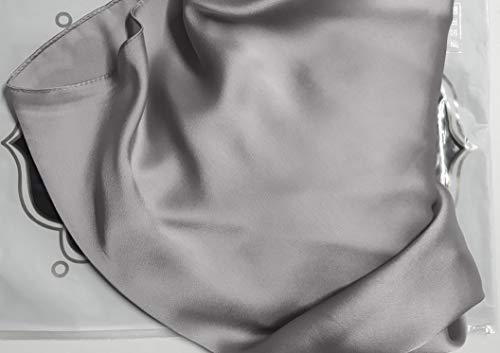 ch 4 de Evening Hijab sedoso satén honor damas chal Wrap bufanda slk2 Silver boda GFM 4 para gasa Slkchf1 zaZxnzw