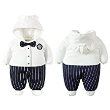 2017 Fall Winter Infant Toddler Hooded Romper Cotton Long Sleeve Jumpsuit Outfit