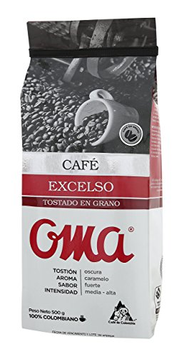 OMA Excelso Colombian Coffee 500gr-17.6 oz -Whole Beans by OMA