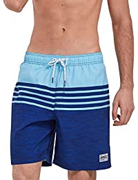 Mens Quick Dry Printed Swim Trunks with Mesh Lining Swimwear Bathing Suits