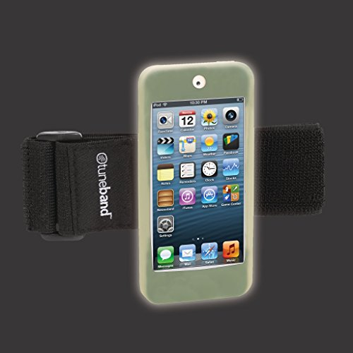 uch 5th Generation / 6th Generation, Premium Sports Armband with Two Straps and Two Screen Protectors (Fits Models A1421/A1509/A1574), GLOW IN THE DARK ()