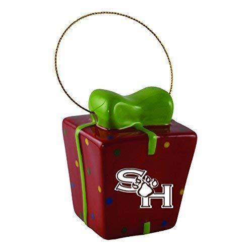 Sam Houston State University-3D Ceramic Gift Box Ornament
