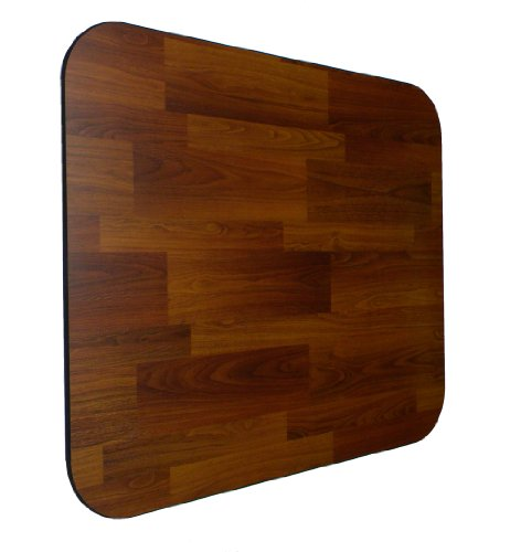 Laminate Chair Mat -Walnut-46x46 Rectangle by Spectrum