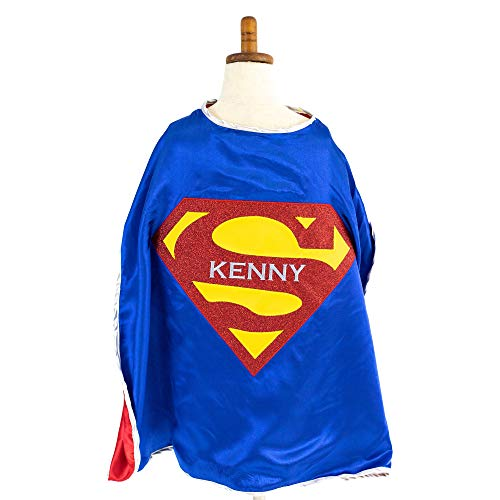 Everfan Personalized Youth Superman Cape Royal Blue
