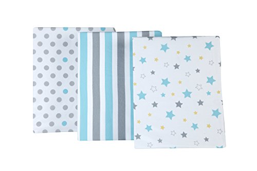 (Little Bedding by NoJo Twinkle Twinkle 3 Piece Crib Sheets)