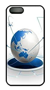 3d earth PC Case Cover for iPhone 5 and iPhone 5s Black