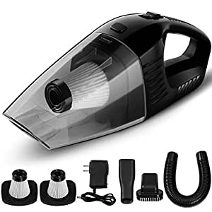 silipower handheld cordless vacuum cleaner portable rechargeable hand vac with. Black Bedroom Furniture Sets. Home Design Ideas