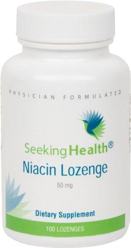 Niacine Losange | Fournit 50 mg de niacine dans un losange facile à livrer | Vitamine B3 | gratuit de stéarate de magnésium | Non-OGM | cerisier naturel Flavor | Médecin Formulé | 100 Pastilles | Santé Cherche