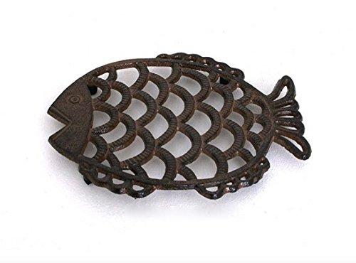 Cast Iron Fish Shaped Trivet (Trivet Shaped)