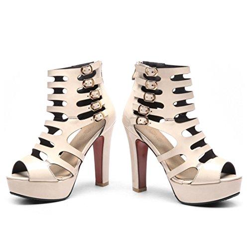 colore di svuotata le di sexy a spillo sandali stivali donne sono sandali tacchi di super pesce bocca nuda 36 freddo stivali qqFwBHSInA
