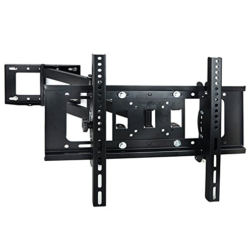 sunydeal full motion articulating arm tv wall mount bracket for most 30 60 inch vizio lg samsung. Black Bedroom Furniture Sets. Home Design Ideas