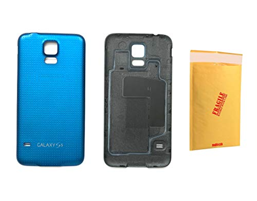 (md0410) Blue Back Door Rear housing Cover Replacement Part Compatible Galaxy S5 G900