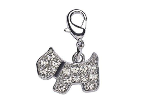 Lacets Attache Le Les Avec Mousqueton Chien Femmes Bracelet Strass Charm La Pour Dog Loria pendentif Ou H6q00w