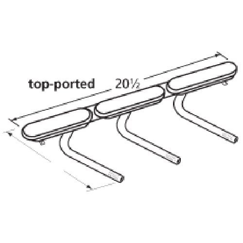 Music City Metals 16123 Stainless Steel Burner Replacement for Gas Grill Models Aussie 6623S8E641 and Aussie 6623S8Y641