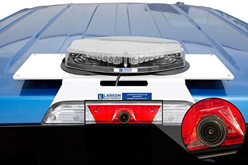 Magnetic Mounting Plate for 2017+ Ford F250-F550 Super Duty Aluminum Body Truck w/LED Brake Lights (Larson Electronics Llc)