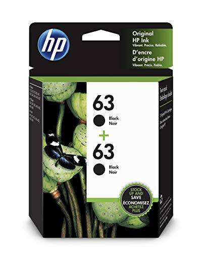 HP 63 | 2 Ink Cartridges | Black | F6U62AN (Number Of Pages Printed Per Ink Cartridge)