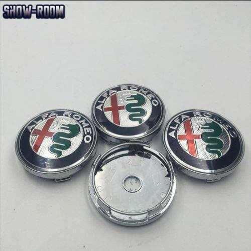 lovely.ZXH 4 pcs 60mm Nouveau Style Alfa Romeo Voiture Centre De Roue Moyeu Cap Cap Wheel Badge embl/ème