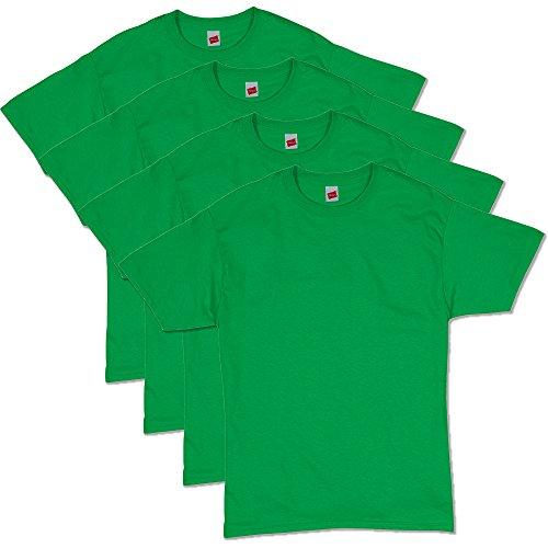 Hanes Men's Comfortsoft T-Shirt (Pack Of 4),shamrock green,3XL