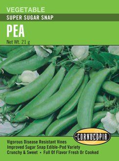 Heirloom Pea, Super Sugar Snap