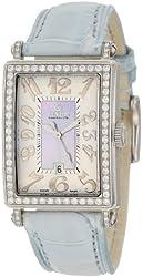 Gevril Women's 7247NL Mini Quartz Avenue of Americas Blue Diamond Watch
