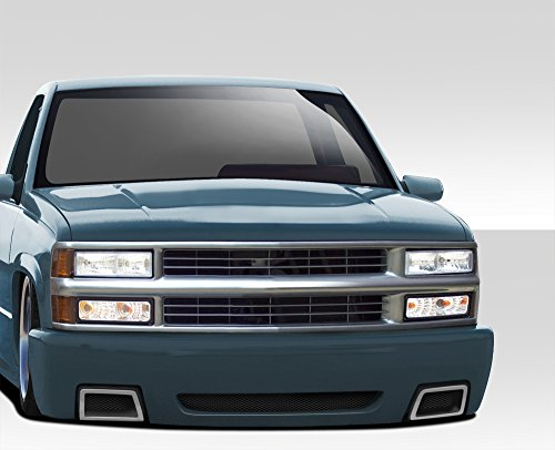 1988-1999 Chevrolet C Series K Series Pickup 1992-1999 Tahoe Yukon Suburban Duraflex SS Look Front Bumper Cover - 1 Piece