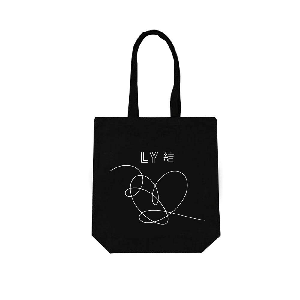 BTS Bag New Ablum Love Yourself 結 'Answer'Canvas Messenger Bag ARMY Support (black)