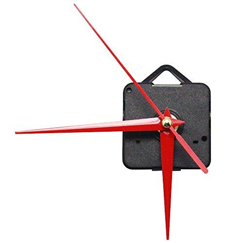 SelfTek Durable Quartz Clock Movement Mechanism Repair Simple DIY Tool Kit with Red Hands Replacement