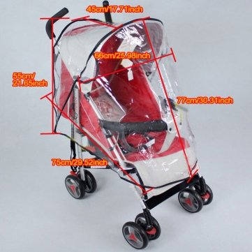 Souked Baby Rain Wind Snow Sleet Cover for Single Jogger Stroller