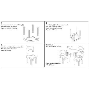 Tot-Tutors-TC911-Kids-Table-and-4-Chair-Set-Plastic