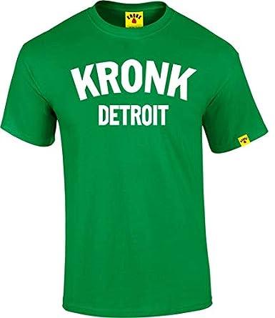 KRONK T-shirt pour homme avec inscription «Detroit»