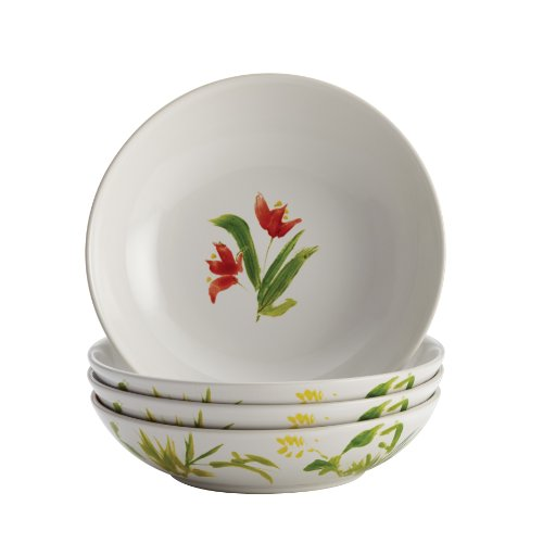 floral glass bowl set - 6