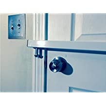 "Door Bar Pro AIO-XL Steel Door Security Bar - Fits ANY Width Inswing Double French Doors From 49"" to 84"" Wide"