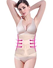 Yosoo 3 in 1 Breathable Elastic Postpartum Support - Recover Belly/waist/pelvis Belt Sharper Support Girdle Belt Post Pregnancy Belly Waist Slimming Shaper Wrapper Band Abdomen Abdominal Binder Belt for Women and Maternity