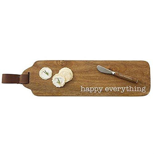 Mud Pie 4755035 Happy Everything Wood Set Serving Board, One Size, Brown (Mud Pie Spreader)