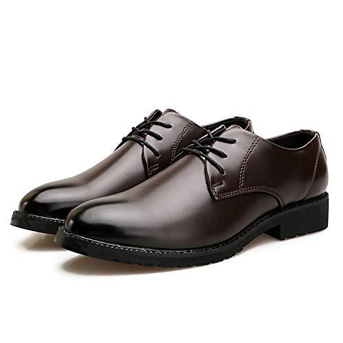 Casual classico cerimonia da Color EU Uomo classico Business Oxford inglese 39 Dimensione Scarpe Men's stile shoes Xiaojuan Marrone Scarpe Marrone Pelle ECZqzYn