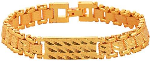 Handicraft Kottage Brass Gold Plated Chain Bracelet For Men