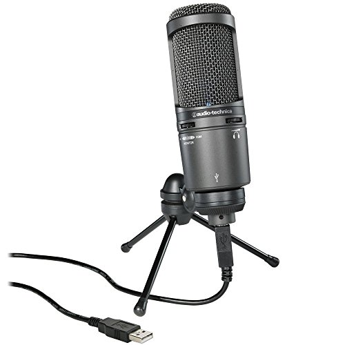 Audio-Technica AT2020USB+ Cardioid Condenser USB Microphone (Certified Refurbished) by Audio-Technica