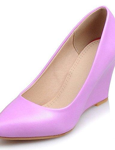 us9 8 Bout Talons Compensé Beige amp; Ggx Uk7 Décontracté 5 talon Pink 10 compensées 5 Pointu Cn42 habillé Violet Chaussures Blanc Evénement Femme Soirée rose Eu41 ZZ6SUn