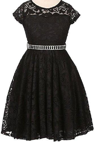 little-girl-cap-sleeve-lace-skater-stone-belt-flower-girls-dresses-19jk88s-black-6