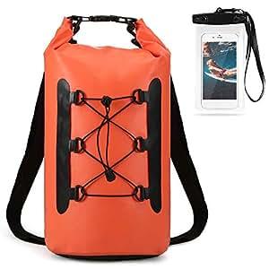 Lixada Bolsa Estanca Seca Impermeable Roll-Top Mochila Impermeable para Trekking Nadar Kayak Deportes Acuáticos 15L