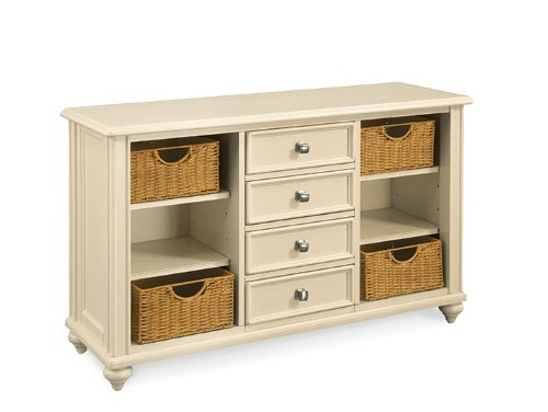 American Drew Camden Console Table in Buttermilk Finish by American Drew
