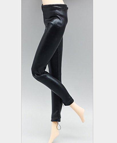 Dalino Exquisite Decoration Girl Doll Elastic Leggings Black