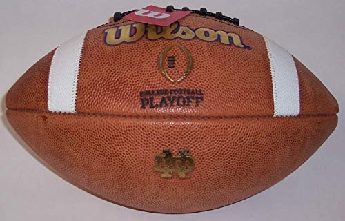 - Notre Dame Fighting Irish Official Wilson Leather NCAA Game Football - WTF 1008 (CFP)