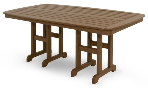 Trex Outdoor Furniture TXNCT3772TH Yacht Club Dining Table, 37 by 72-Inch, Tree House