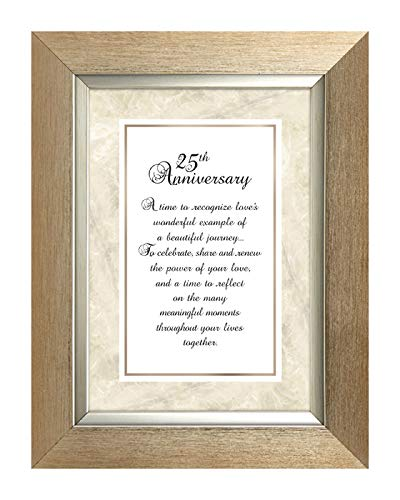 US Gifts 25th Anniversary -7'' X 9'' Framed Tabletop