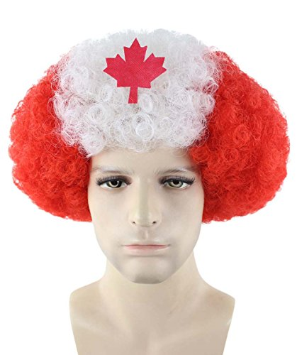 Halloween Party Online Afro Wig, Team Canada HM-371