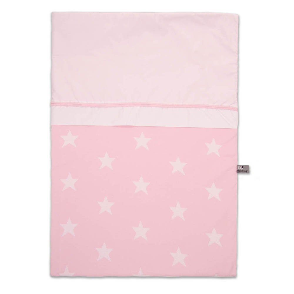 Baby's Only 910994 Bettbezug Stern Baby rosa / weiß 100x135 cm